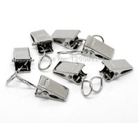 badge clip necklace - Silver Tone Strap Clips Badge Holder Office Supplies Fit Necklaces Jewelry Component Charms x15mm
