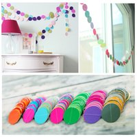 string labels - Fun Colorful Hanging Paper Garlands Flora String Wedding Party Baby Kids Decoration Round Shape New