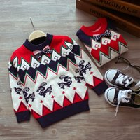 kids winter sweater - Cute Winter Sweaters with Bowknot Pullover Christmas Sweaters for Kids Cashmere Blends Fashion Style Baby Boys Clothing