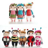 achat en gros de plush rabbit toy-Gratuit 30cm Livraison Belle Stuffed Cloth Doll Peluche metoo Lapin Doll Angela Christmas Birthday Girl L321 cadeau