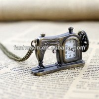 acrylic carving machine - Latest fashion Vine jewelry antique carved sewing machines pendant pocket watch for gifts machine cold watch female