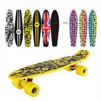 Wholesale Cheap peny board original complete Skateboard griptape Retro Mini Skate long board cruiser longboard wheels led lights