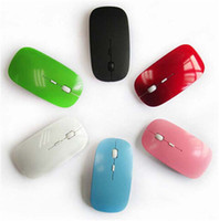 Wholesale NEW G colorful D Wireless Ultra Thin Optical Mouse for Laptop Desktop Notebook USB Adapter Mouse Keyboard Universal