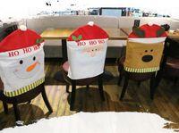Wholesale 3pcs New Arrival Christmas Chair Covers cm Christmas Decorations Navidad Adornos Dinner Decor Chair Sets Gift