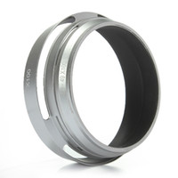 Wholesale Top Quality Sliver Professional Metal Silver mm LH JX100 Lens Hood LA X100 Adapter Ring for Fuji for Fujifilm X100 X100s New