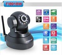 Wholesale Foscam Chinese version FI8918W SD810W CCTV Camera WiFi Wireless Pan Tilt IR IP Way Audio iphone View Black EMS FREE SHIP