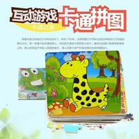 Wholesale 20 flat wooden puzzle early childhood educational wooden toys imposition of animation stall