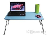 Cheap Wholesale - free shipping 2014 new folding bed laptop table bed computer desk computer desk simple student computer desk for Christmas