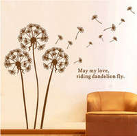 adhesive posters - Art Mural Removable Wall Stickers Dandelions Decoration Wall Hangings Stickers DIY Wall Stickers Home Decor Stickers Wall Poster x130cm