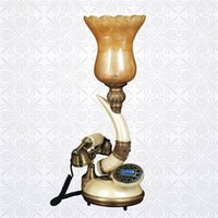 Wholesale Ivory antique telephone home lamp technology table lamp telephone accessories