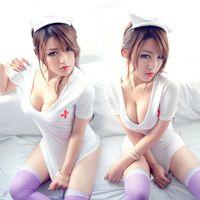 adult nurse costume - 2016 Women Sexy Lingerie White Nurse Costume Adult Entice Cosplay