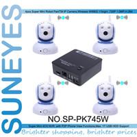 adaptor bracket - SunEyes SP PK745W ch Mini Pan Tilt IP Camera Wireless Kit with one ch mini NVR including Power Adaptor and Brackets