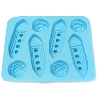 Wholesale Fashion Ship Shaped Small Boat Ice Cube Trays DIY Carving Mold Party Ice Drinking Maker Tools