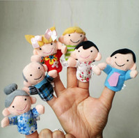 Wholesale Set Family Finger Puppets Cloth Doll Baby Educational Hand Toy Story Kids Birthday Party