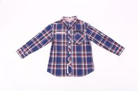 Wholesale Kids Baby Boy Shirts Childrens Clothing Plaid Home Outdoor Cotton Pocket Long Sleeved Turn Down Collar Thanksgiving Day Casual Gift