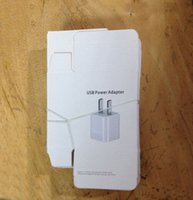 iphone empty box - New Arrival empty paper Retail Packing Box White Paper Bag Package For iPhone s s c Plus USB Power Adapter Wall Charger
