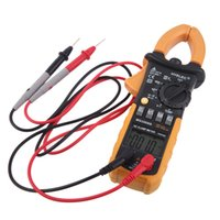 Wholesale Digital Professional AC Clamp Meter w Back light multimeter Tester HYELEC MS2008B Electrical Multimetro Counts
