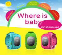 Wholesale Mini Smart Phone Watch kids GPS watch Tracker Watch For Kids SOS Emergency Anti Lost Wristband Two Way Communicatio For iOS Android