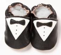 baby training walker - 2015 Genuine Leather Baby Boys Shoes Bowties First Walkers Soft NewBorn Training Shoe Prewalker