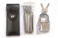 Wholesale New Arrival Transparent Cutaway Practice Padlock Locksmith Tools with set bag Locksmith Tools