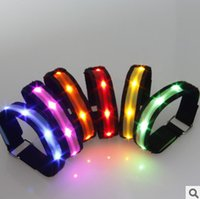 Wholesale LED light emitting cloth armband the new hot flash arm band arm with luminous flash