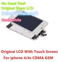 Cheap For Apple iPhone Original LCD digitizer Best iPhone 4S LCD Screen Panels Assembly Repair screen