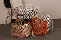 fashion magazine - Handbags Fashion Hand Bags Bags For Women handbag Genuine Leather Handbag Magazine Funds Hollow Carved Totem Fringed Packet Shoulder Bag