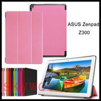 asus skin - For ASUS Zenpad Z300 Z580 Z380 Z500 C7 Z170 Z370 Folio Flip Folder leather case Ultra Slim Cover