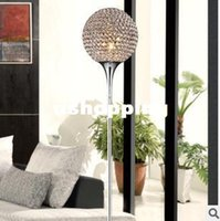 Wholesale Modern Brief K9 Crystal Floor Lamp E27 Living Room bedroom Home Decor floor lamp Lampshade Lighting V W
