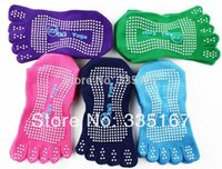 Wholesale wholesales pairs Women Five Toe Yoga Socks Multicolored Sports Gym Floor Socks