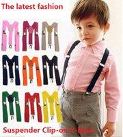 Wholesale New Kids straps Toddlers Suspenders Clip on Y Back Boys Girls Children Elastic Wedding Suspender Factory Sale Colors DHL free