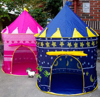 Wholesale Children Beach Tent Prince and Princess Palace Castle Children Playing Indoor Outdoor Toy Tent Game House