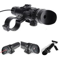 Wholesale 1Set Mini Tactical Red Laser Sight mw nm Red Laser Scope Aluminium Alloy Lasers with Rifle Shot Gun Mount Hunting Optics