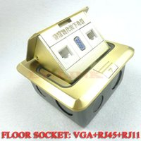 audio ground floor - Floor socket with VGA and RCA Audio Ground Socket