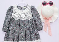 factory direct clothing - 2015 new princess dress floral skirt children girls long sleeved dress children s clothing factory direct autumn