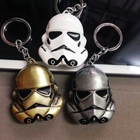 antique clock keys - 3 colors Star Wars Keychain cm StormTrooper Helmet storm trooper pendant Key chain ring Darth Vader Mask superhero Keyring