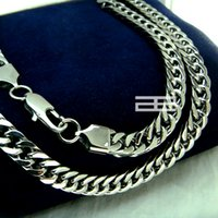 9ct gold - Men K CT White Gold GF cm Length Curb Heavy Necklace Chain N151