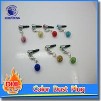 Wholesale DIY Diamond Design Mobile Phone Dust Anti Plug mm Universal Headphone Plug Dust Plug Drop