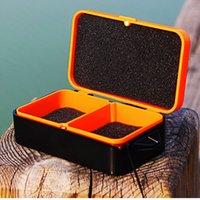Cheap 10 * 6 * 3.2 cm Fishing Live Bait Box Multi-Function Fishing Box Breathable Live Fishing Bait Tackle Box