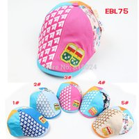 Wholesale 5pcs Patchwork Fashion Baby Boys Girls Beret Cap Children Beret Hat Kid Casquette Peaked Hats Boy Caps For Yrs