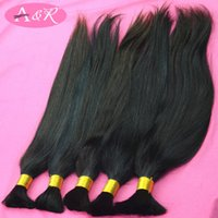 brazilian hair bulk - Top Quality Unprocessed Virgin Brazilian Hair Bulk Soft Natural Color Virgin Remy Human Hair Bulk For Braiding