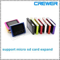 Wholesale MP4 th Generation Clip Digital MP4 Player quot support tf card slot free ship