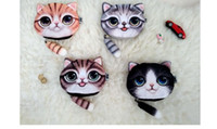 Wholesale Women d Cat Coin Purse Bag Wallet CartoonGirls Styles Clutch Purses Printer Cat face Change Purse handbag case Dhgate
