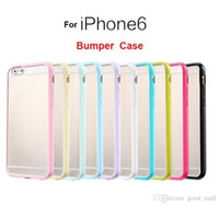 Wholesale For Iphone Case Iphone s Case Mat PC TPU Soft Clear Transparent Gel Cover Cases For Iphone plus IPHONE S Bumper cell phone Case