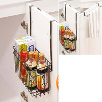 bath cabinets - Kitchen storage rack Cabinet doors after storage basket Bathroom cabinet storage rack Storage basket Basket Rack Towel rack The bath cabinet