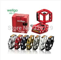 Wholesale Bicycle Parts Bicycle Pedal Wellgo MG MG3 MG Magnesium Pedals For Road Bike pedals bicycle pedal MTB BMX DH Platform