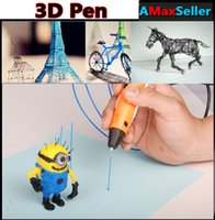 Cheap Hot Creative Graffiti 3D Printing Pen Drawing 3d Air Pens with 3 Free 3m ABS Filament 3D Printers For Kids Bithday Gifts Free Shipping