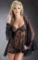 hot robe - Hot Women Lingerie Sexy Sheer Skirt Babydolls Robes Lace Teddies Lady Underwear Sleepwear Nightwear T