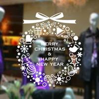 al por mayor etiquetas en las ventanas de navidad-Venta caliente nuevos adhesivos de pared de Navidad Elfos Feliz Navidad etiqueta de la pared removible Vinilo Windows Home Décor envío libre