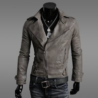 Wholesale Fall fashion brand winter pilot motorcycle leather jacket men biker jaqueta de couro masculina fur coats hombre chaquetas JK17